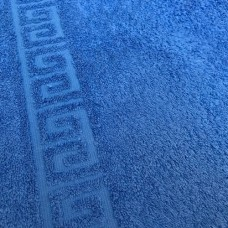 Полотенце махровое цвет синий